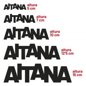 Alturas disponibles para nombres en madera